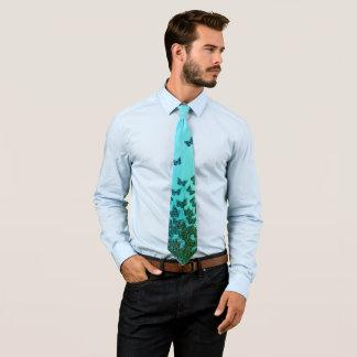 Blaues und grünes Schmetterlingsthema, Bedruckte Krawatten