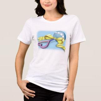 Blaues und lila Baby-Geklapper T-Shirt