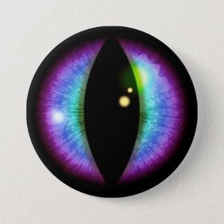 Blaues und lila Drache-Auge Runder Button 7,6 Cm