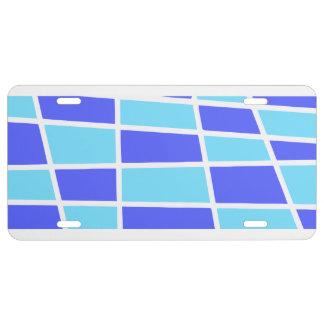 Blaues und lila Muster US Nummernschild