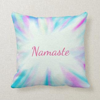 Blaues und lila Namaste Kissen
