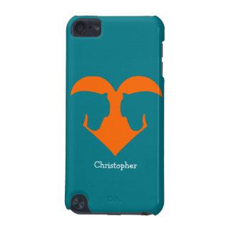 Blaues und orange personalisiertes Pony iPod Touch 5G Hülle