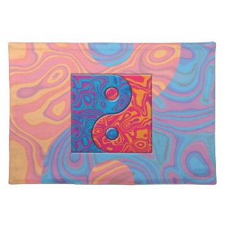 Blaues und orange Yin Yang Symbol Tischset