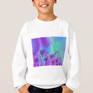 Blaues und rosa Blasen-Fraktal Sweatshirt