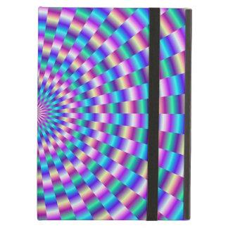 Blaues und rosa Rundschreiben verbindet iPad Fall