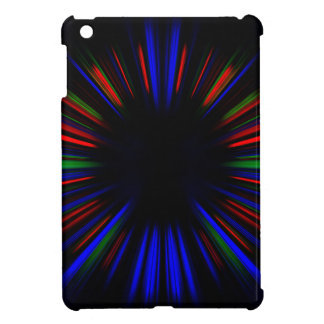 Blaues und rotes Sternexplosionmuster iPad Mini Schale
