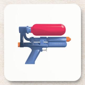 Blaues und rotes Wasser-Gewehr Untersetzer