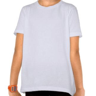 Blaues und schwarzes abstraktes Entwurfs-Fraktal A Tshirts