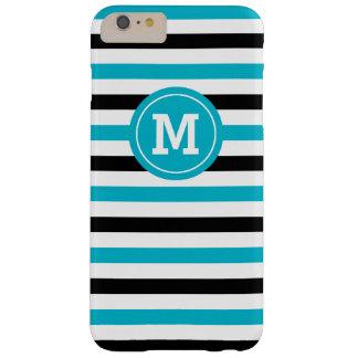 Blaues und schwarzes geometrisches barely there iPhone 6 plus hülle