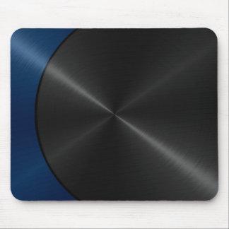 Blaues und schwarzes glänzendes Edelstahl-Metall 2 Mauspad