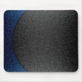 Blaues und schwarzes glänzendes Edelstahl-Metall Mousepads