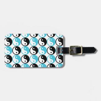 Blaues und schwarzes yin Yang-Muster Kofferanhänger
