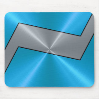 Blaues und silbernes Edelstahl-Metall 2 Mousepads