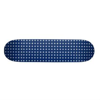 Blaues und weißes amerikanisches Stern-Skateboard Personalisiertes Skatedeck