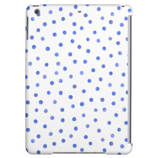 Blaues und weißes Confetti-Punkt-Muster