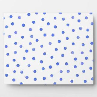 Blaues und weißes Confetti-Punkt-Muster Fotoplatte