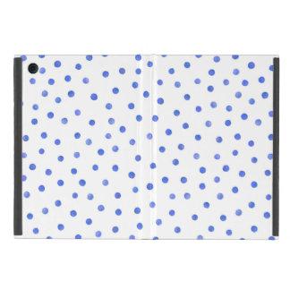 Blaues und weißes Confetti-Punkt-Muster iPad Mini Hülle