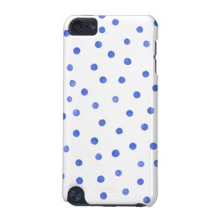 Blaues und weißes Confetti-Punkt-Muster iPod Touch 5G Hülle