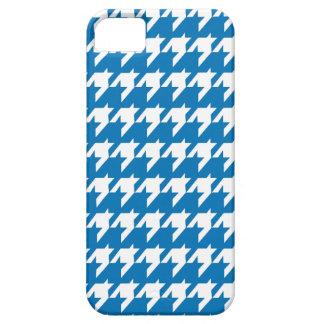 Blaues und weißes Hahnentrittmustermuster Schutzhülle Fürs iPhone 5