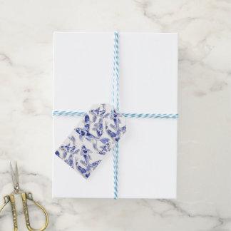 Blaues und weißes Koi Geschenkanhänger