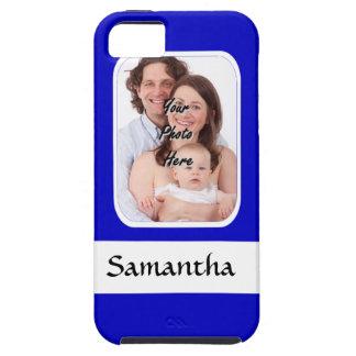 Blaues und weißes kundenspezifisches Foto Etui Fürs iPhone 5