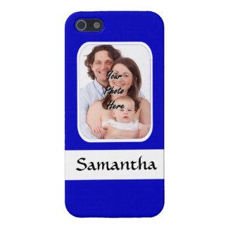 Blaues und weißes kundenspezifisches Foto Schutzhülle Fürs iPhone 5