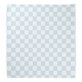 Blaues und weißes Pastellschachbrett Kopftuch