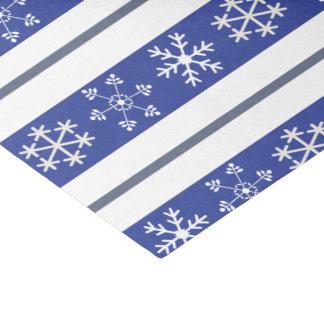 Blaues und weißes Schneeflocke-Seidenpapier Seidenpapier