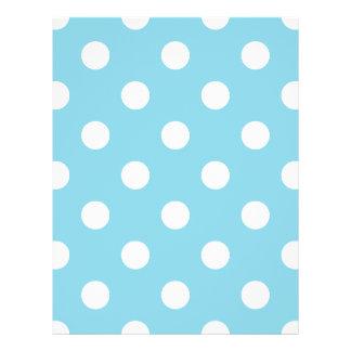 Blaues und weißes Tupfen-Muster Flyer