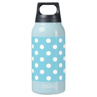 Blaues und weißes Tupfen-Muster Isolierte Flasche