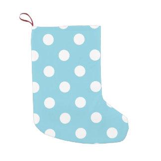 Blaues und weißes Tupfen-Muster Kleiner Weihnachtsstrumpf