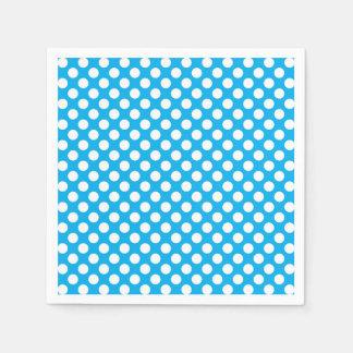 Blaues und weißes Tupfenmuster Papierserviette