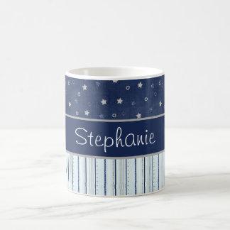 Blaues US Flagge-personalisierte Kaffee-Tasse