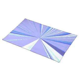 Blaues verschwindender Punkt-Tischset Stofftischset