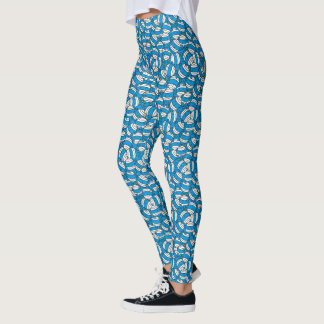Blaues Verwirrungs-Muster Herr-Bump | Leggings