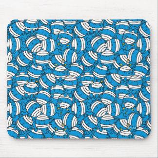 Blaues Verwirrungs-Muster Herr-Bump | Mauspads