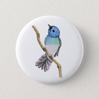 Blaues Vogel-Button Runder Button 5,1 Cm