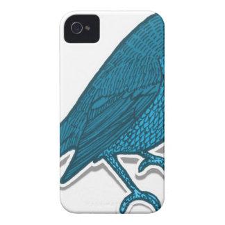 Blaues Vogel-Zeichnen iPhone 4 Hüllen
