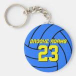 Blaues Volleyball-Sport-Team Keychain Standard Runder Schlüsselanhänger