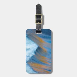 Blaues Wasser abstrakt, Kanada Gepäckanhänger