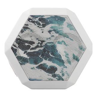 blaues Wasser der Ozeanwellen-Seenatur schön Weiße Bluetooth Lautsprecher