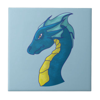 Blaues Wasser-Drache Keramikfliese