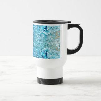 Blaues Wasser-Kristalle Reisebecher