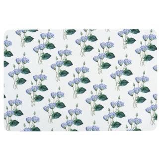 Blaues Wasser-Lilien Bodenmatte