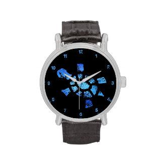 Blaues Wasser-Schildkröte-Zeit Uhr