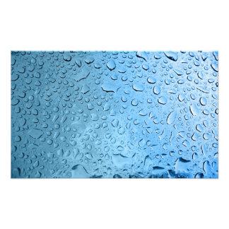 Blaues Wasser-Tröpfchen Photo Druck