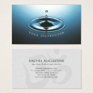 Blaues Wasser-Tropfen-Kräuselung u. OM-Symbol YOGA Visitenkarte