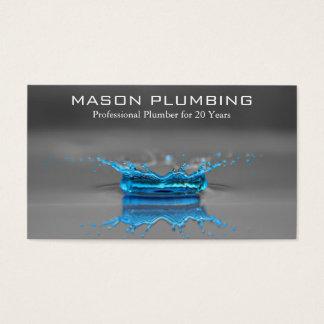 Blaues Wasser-Tropfen-Spritzen - Klempnerarbeit - Visitenkarte