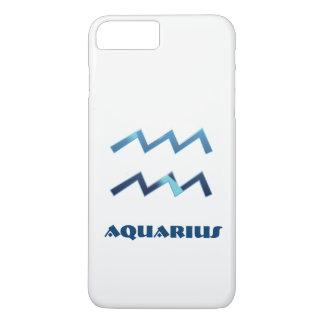 Blaues Wassermann-Tierkreis-Zeichen auf Weiß iPhone 7 Plus Hülle