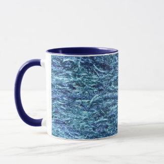Blaues weiches und flockig tasse